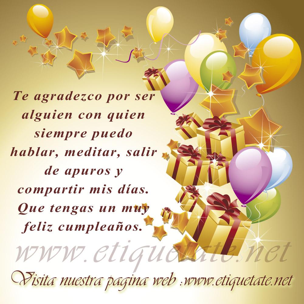 Felicitaciones de cumpleaños para compartir