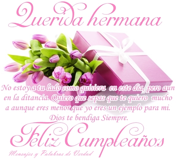 Feliz cumpleaños para mi hermana