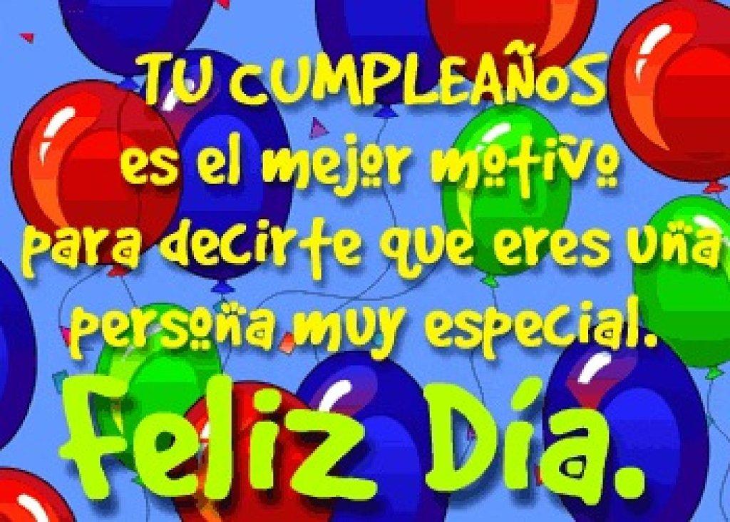Feliz día de cumpleaños
