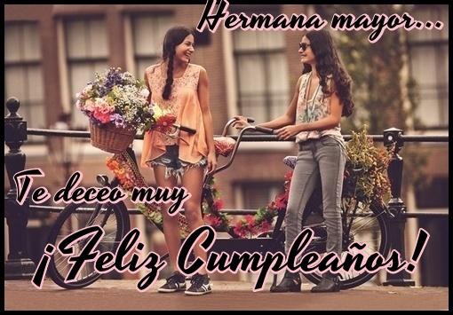 Frases de cumpleaños para hermanas mayor gratis