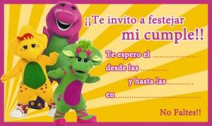 Tarjetas de cumpleaños de Barney