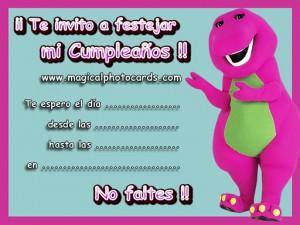 Imágenes de cumpleaños de Barney gratis