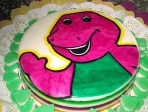 Tortas de cumpleaños de Barney