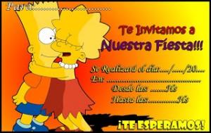 Tarjeta de cumpleaños de Bart Simpson