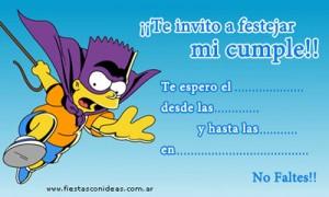 Invitaciones de cumpleaños de Bart Simpson