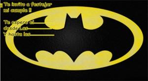 Tarjeta de cumpleaños de Batman