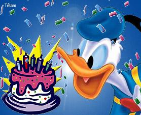 Postales de cumpleaños de Pato Donald