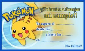 Tarjeta de cumpleaños de Pokemon
