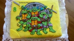Pastel de cumpleaños de las tortugas Ninja