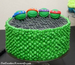 Tortas de cumpleaños de las tortugas Ninjas