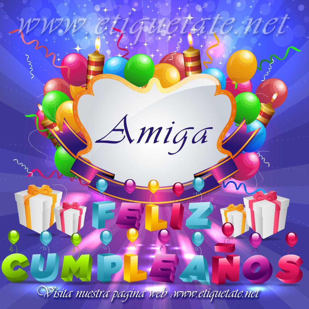 Felicitaciones de cumpleaños a una amiga