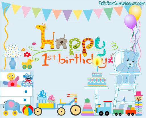 Imagenes de cumpleaños para el primer año gratis