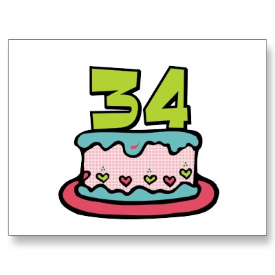 Imagenes de cumpleaños para los treinta y cuatro años