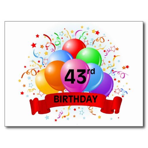 Imagenes de cumpleaños para los cuarenta y tres años
