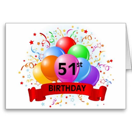 Imágenes de cumpleaños para los cincuenta y un años