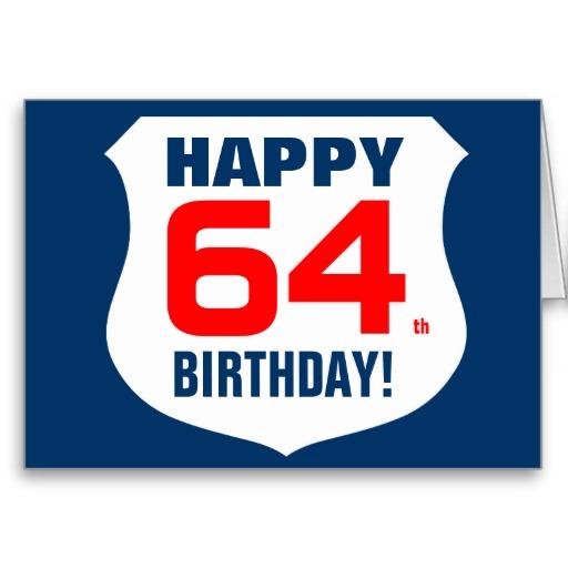 Imagenes de cumpleaños para los sesenta y cuatro años