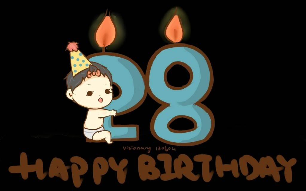 Imágenes de cumpleaños para los veintiocho años