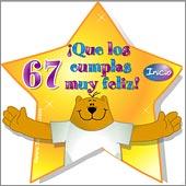 Imagenes de cumpleaños para los sesenta y siete años