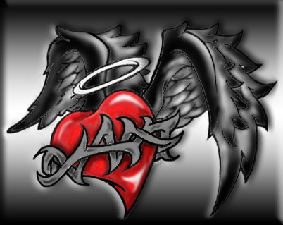 Corazones con alas,quisiera bolar hacia ti,para darte amor y felicidad