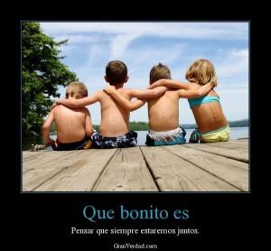 Los amigos son el tesoro que jamás debemos de perder
