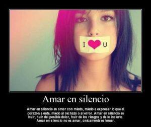 Amar en silencio es un cuchillo que poco a poco se penetra en el corazón