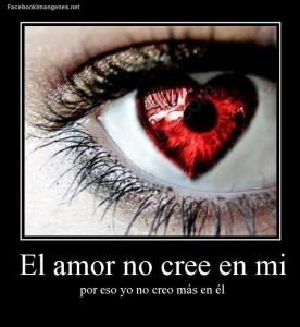 """Si el amor tuviera palabras me diría """"no creo en ti"""""""