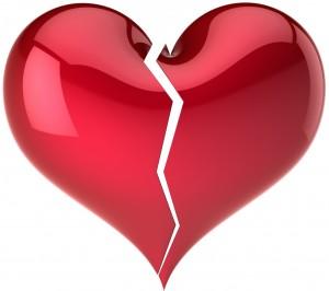 Corazón de cristal roto