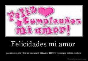 Celebremos tu cumpleaños mi amor