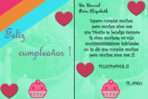 Te deseo lo mejor mi amor en tu cumpleaños