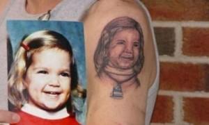 mal tatuaje de niña