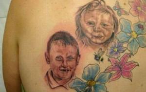 mal tatuaje de niños