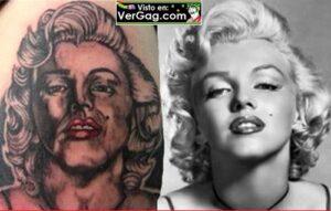 mal tatuaje de marilyn monroe
