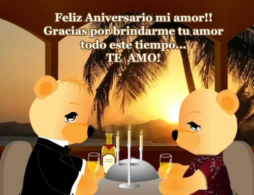 te amo feliz aniversario