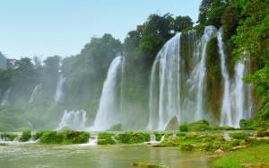 imágenes de una impresionante cascada