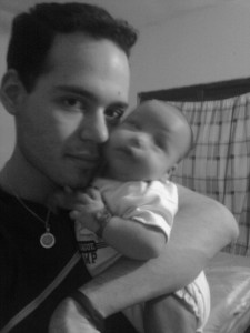 Fotos de un padre con su bebé