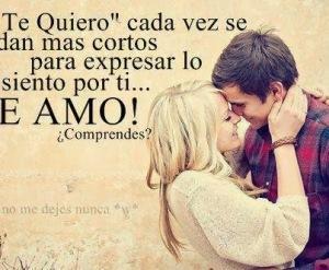Frases De Amor Te QuieroCada Vez Se Dan Mas Cortos Para Expresar Lo Siento Por Ti
