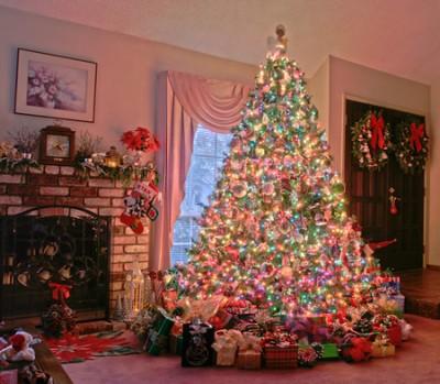 arbol de navidad adornado