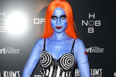 disfraz azul