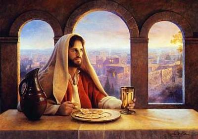 jesucristo comiendo