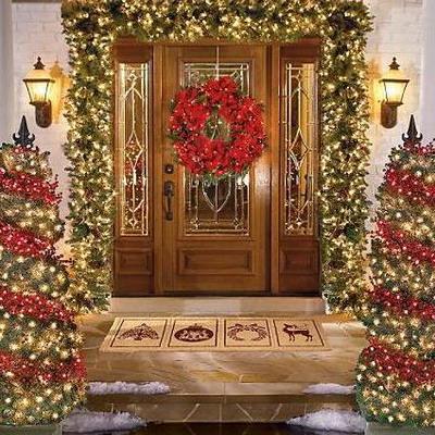 decoracion navideña fachada