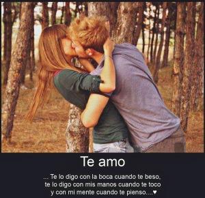 Frases De Amor Te Amo Te Lo Digo Con La Boca Cuando Te Beso
