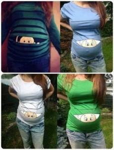 camiseta dievertida para embarazada 4