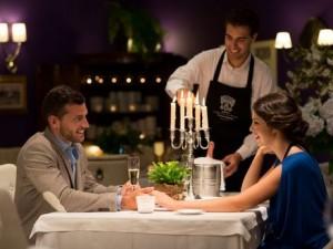 cenaromantica en restaurante