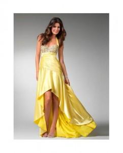 vestido para coctel,amarillo