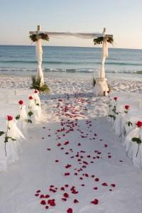 decoracion de boda en la playa