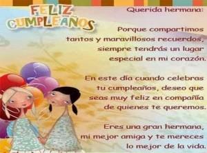 tarjeta feliz cumple hermana