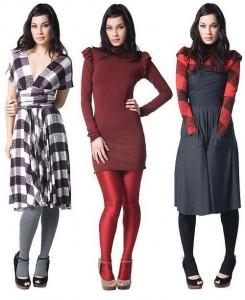vestidos casuales para lucir en invierno
