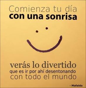 comienza tu dia con una sonrisa
