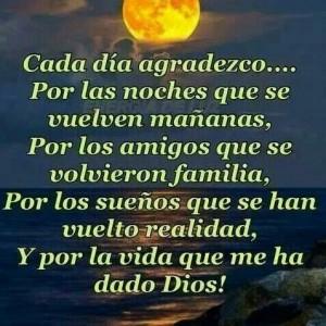 Cada dia agradesco Dios