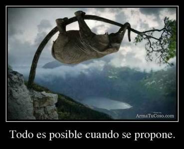 Todo es posible cuando se propone